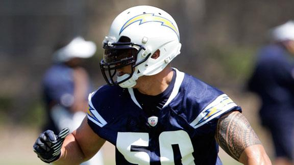 Rookie Te'o practices against Chargers vets