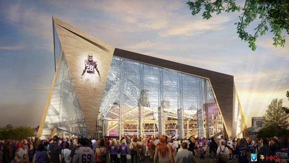 Vikes unveil glass-centric plan for new stadium