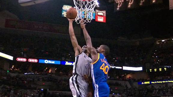Video - Leonard Dunks On Barnes