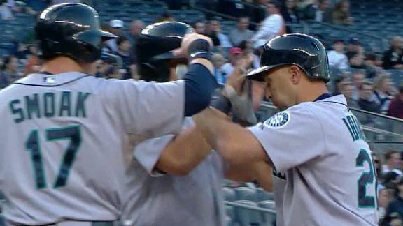 Video - Ibanez Powers M's Past Yankees