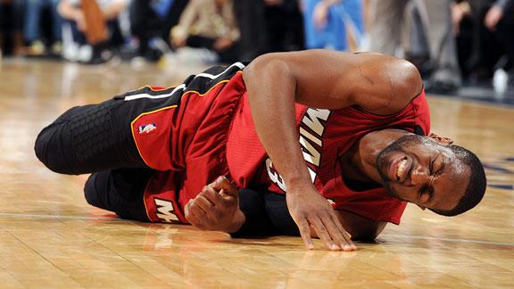 Video - Heat Concerned About Wade's Knee
