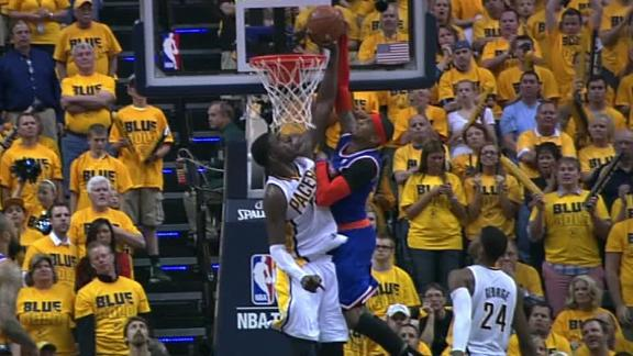 Video - Hibbert's big block on Carmelo