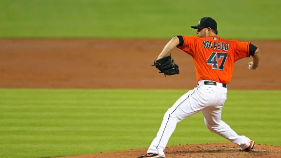 Nolasco K's 11 as Marlins snap 7-game skid