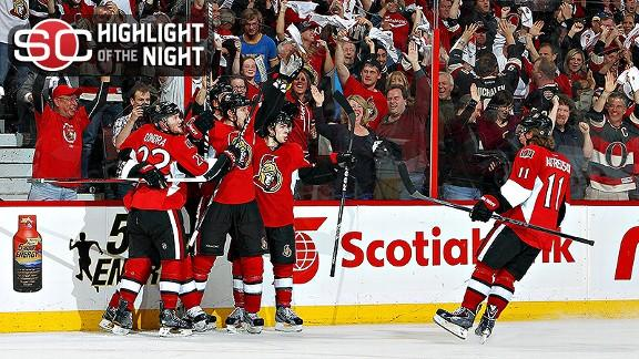 Senators Stun Penguins In Double OT