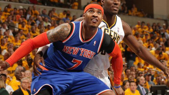 Melo to have injured shoulder re-examined
