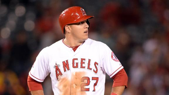 Mike Trout Hits For The Cycle