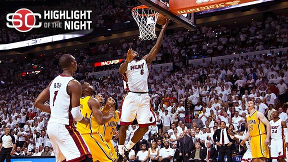 LeBron Saves Heat At Buzzer Of OT