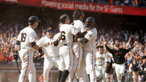 Video - Giants Win On Walk-Off Inside-The-Park Homer