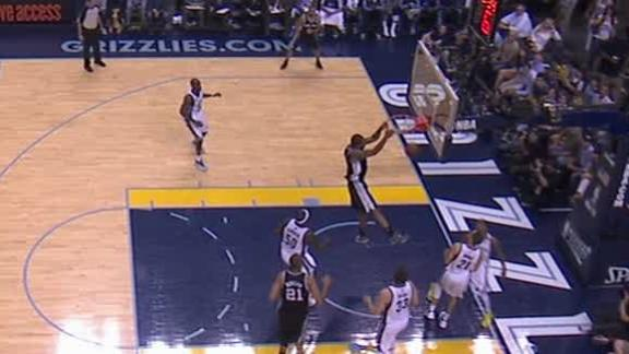 Video - Kawhi Leonard two-handed slam