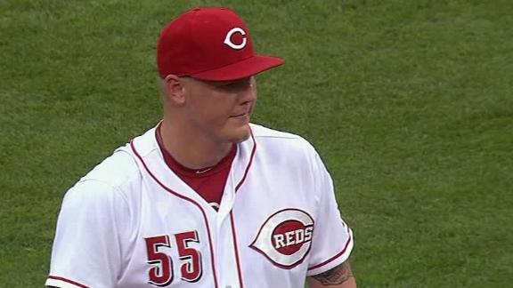 Video - Latos Guides Reds Past Indians, Improves To 5-0