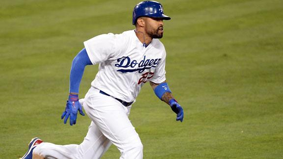 Dodgers' Kemp on DL with hamstring strain