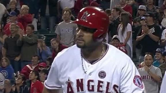Video - Pujols, Angels Edge Cubs
