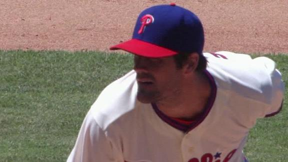 Hamels K's 11, Brown homers in Phils' win