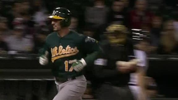 Video - A's Homer Past The White Sox In 10