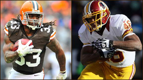 Fantasy Roundtable: Trent Richardson vs. Alfred Morris