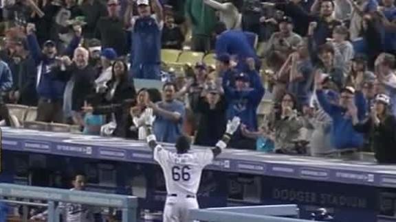Puig hits grand slam to power Dodgers' win