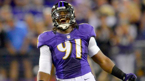 John Harbaugh says Upshaw eats too much