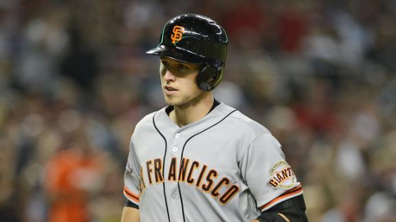 Six-run inning helps Giants wallop D-backs