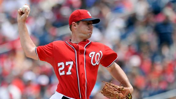 Zimmermann gets 9th win as Nationals cruise