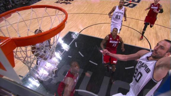 Video - Manu Finishes with the Dunk