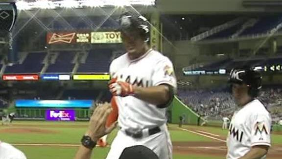 Stanton hits 1st HR since return to lift Marlins