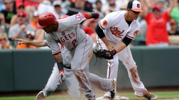 Angels rally past Orioles to snap losing skid