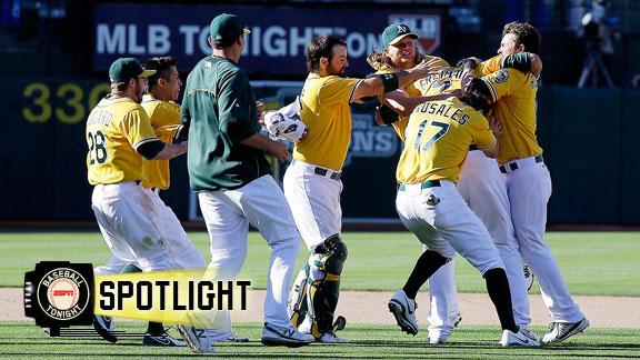 Video - A's Edge Yankees In 18