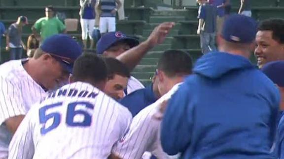 Cubs end Wrigley skid vs. Reds in 14th