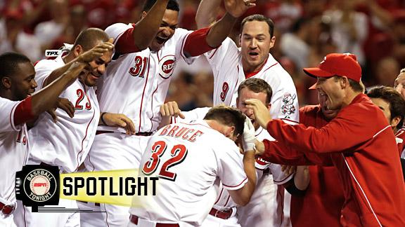 Video - Bruce's Walk-Off Blast Lifts Reds