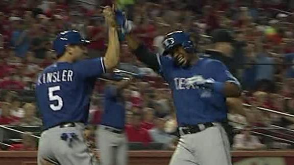 Cruz's single in 9th lifts Rangers past Cards