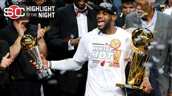 Video - LeBron, Heat Win Second Straight Title