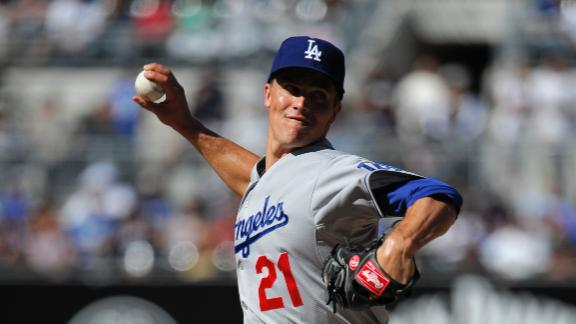 Greinke strikes out 8 as Dodgers top Padres