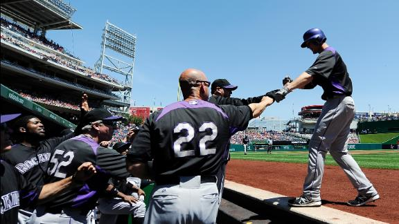 Chacin sharp as Rockies pummel Nationals