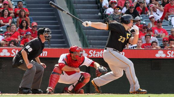 Pirates rally for 3 in 9th, then top Angels in 10