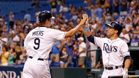 Rays use 3 straight HRs to end Jays' streak
