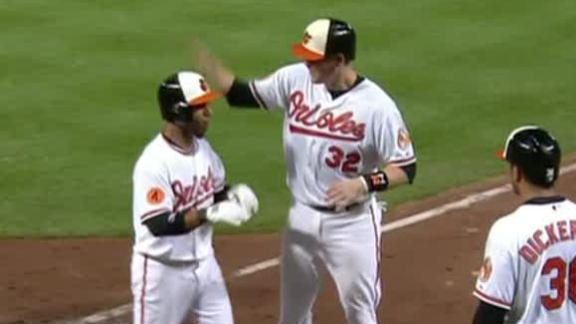 Davis hits 28th HR as O's snap 4-game skid