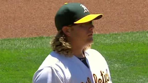 Griffin tosses 2-hit shutout as A's down Reds