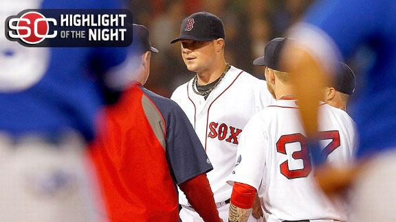 Video - Lester Suffers Injury In Boston's Win