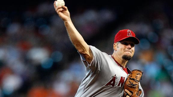 Angels ride Blanton, HRs to win over Astros