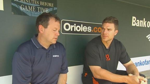 Video - Chris Davis & Buster Olney In The Dugout