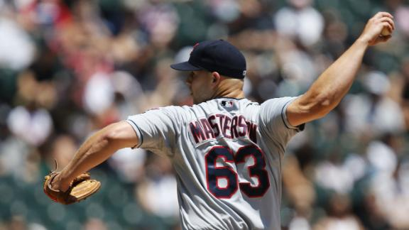 Masterson gets 3rd shutout as Indians sweep