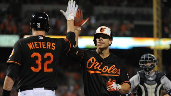 Davis, Machado homer as O's sweep Yanks