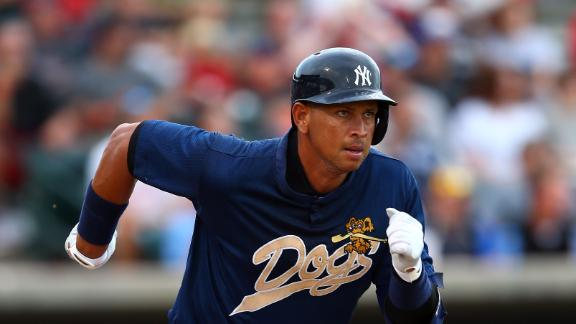 A-Rod hitless in 2 at-bats during rehab game