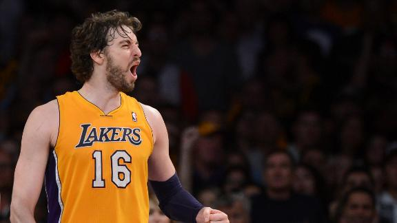 Gasol won't be cut by Lakers, source says