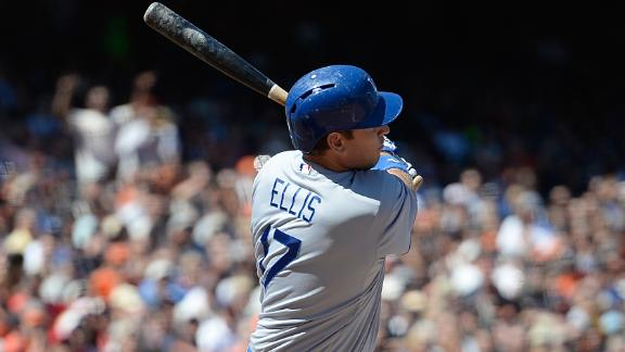 Ellis' double in ninth lifts Dodgers by Giants