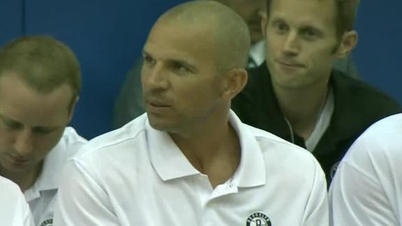 Nets' Kidd called for technical in coaching debut