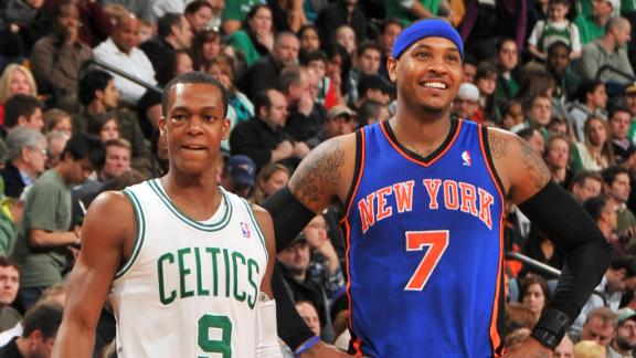 Video - Carmelo Anthony Eyes Rajon Rondo
