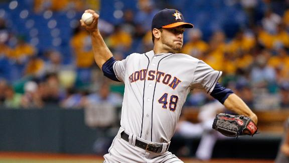 Astros' Cosart dazzles in debut to halt Rays
