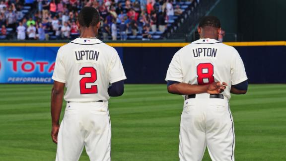 Braves without Uptons, Heyward vs. Reds