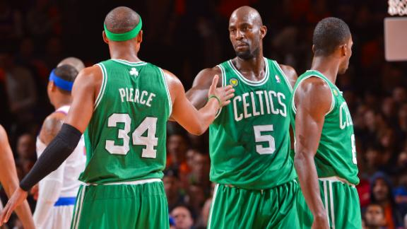 Video - Celtics Publicly Thank Pierce, KG